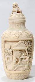 092294 CHINESE IVORY SNUFF BOTTLE 19THC