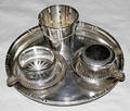 12355 STERLING  SILVER PLATE TRAYS DISHES
