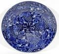 10388 JAPANESE BLUE  WHITE PORCELAIN CHARGER 18