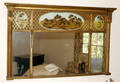 122415 PAINTED WOOD  GESSO EGLOMAISE MIRROR