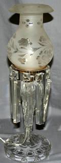102459 HURRICANE STYLE CRYSTAL TABLE LAMP