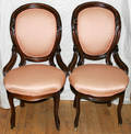 091340 VICTORIAN WALNUT PARLOR CHAIRS