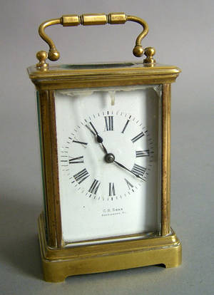 French carriage clock retailed by CR Boas