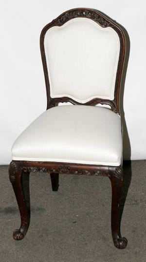 090343 FRENCH STYLE WALNUT FAUTEUIL