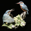 121488 BOEHM BISQUE FIGURE KINGFISHER H 9 W 9