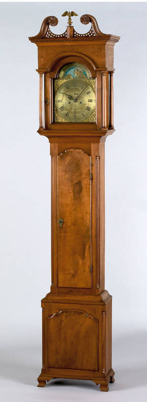 Philadelphia Chippendale walnut tall case clock ca 1780