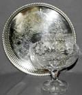 090376 CUT GLASS CANDY COMPOTE SHEFFIELD TRAY