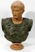 12461 EUROPEAN TERRACOTTA JULIUS CAESAR BUST