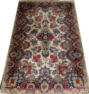 11463 KERMAN PERSIAN ORIENTAL RUG C 1930 32x5
