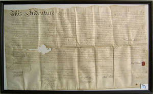 Richard Penn signed indenture dated 1773