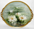 121499 BAVARIAN PORCELAIN TRAY WATER LILIES