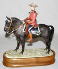 121495 ROYAL WORCESTER BISQUE CANADIAN MOUNTED POLICE