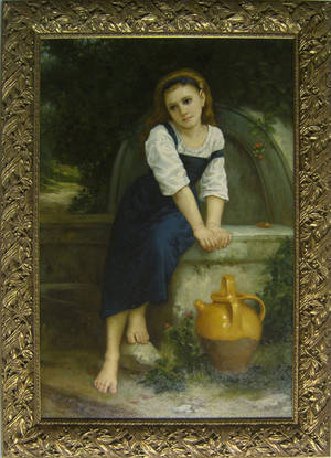 Contemporary oil on canvas of a young girl