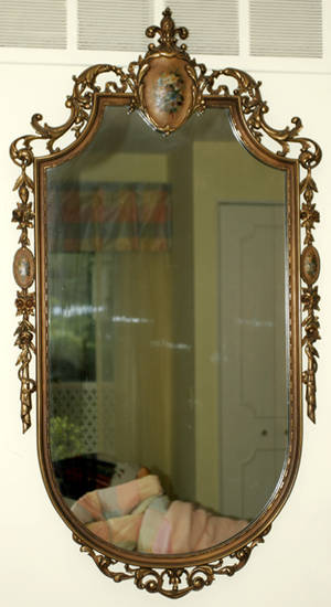 092396 REGENCY STYLE GILT WOOD WALL MIRROR