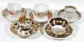 10515 ENGLISH PORCELAIN TEA CUPS  SAUCERS