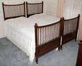 10477 ARTS  CRAFTS STYLE MAHOGANY TWIN BEDS L 79