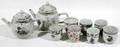 10500 CHINESE EXPORT PORCELAIN TEAPOTS  TEA CUPS