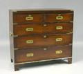 English mahogany campaign chest ca 1790
