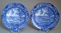 Two Historical blue Staffordshire plates 19th c