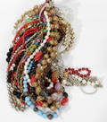 12540 COSTUME GLASS BAKEALITE PEARLS BEADS NECKLACES