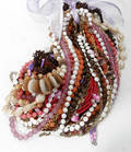 12539 COSTUME GLASS PEARL DESIGN  BEAD NECKLACES