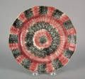 Red and black rainbow spatter plate 19th c