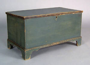 Diminutive painted blanket chest 19th c