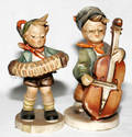 112514 HUMMEL PORCELAIN FIGURES CELLO  ACCORDIAN