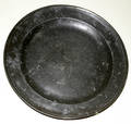 102595 ANTIQUE PEWTER CHARGERS