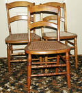 101654 MAPLE CANE SEAT CHAIRS