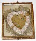 093151 VICTORIAN PINK SATIN HEART SHAPED VALENTINE