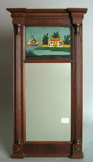 Late Federal mahogany mirror