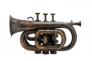 American Military Brass Cornet Likely 19th C