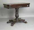 Empire style mahogany card table