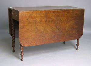Sheraton walnut dining table
