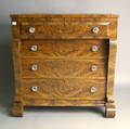 Empire mahogany chest of drawers