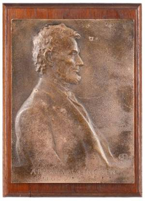 Victor Brenner Bronze Plaque of Abraham Lincoln