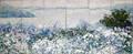 12039 JOE ZINA HANDMADE PAPER PANELS BLUE ISLAND