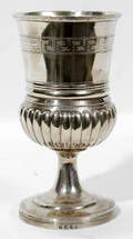 11023 GEORGE III STERLING SILVER GOBLET H 675