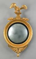 Giltwood convex mirror ca 1800