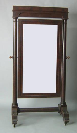 American classical mahogany cheval mirror ca 1835