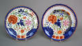 Gaudy Dutch plate and shallow bowl 19th c