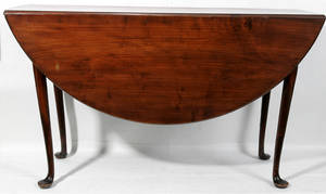 122029 AMERICAN QUEEN ANNE MAHOGANY DROP LEAF TABLE