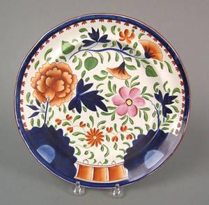 Gaudy Dutch shallow bowl 19th c