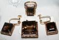 120054 E INDIAN GOLD TOPAZ EARRINGS PENDANT  RING