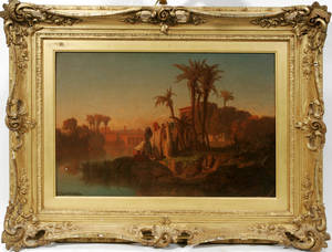 112012 FREDERICK GOODALL RA OIL ON CANVAS RIVER