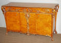 112035 ART NOUVEAU STYLE CARVED FRUITWOOD SIDEBOARD