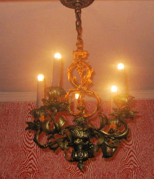 111029 BRONZE FRENCH STYLE FIVELIGHT CHANDELIER