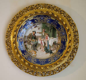 102055 HAND PAINTED GERMAN PORCELAIN CHARGER