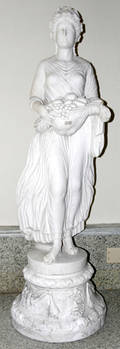 100007 CARVED MARBLE SCULPTURE STANDING FEMALE